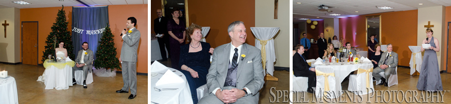 Our Lady of Good Counsel Plymouth  MI wedding reception photograph
