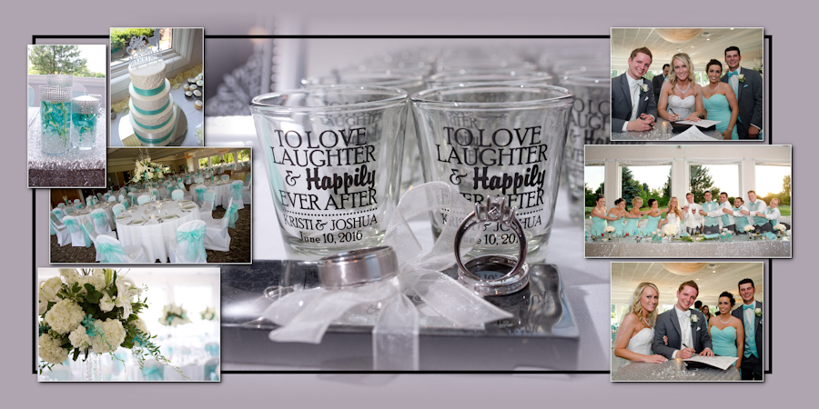 Coffee Table Design - Sycamore Hills Golf Macomb MI wedding photograph