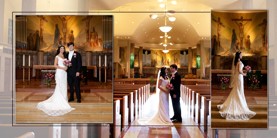 Coffee Table Design - St. Clare of Montefalco Grosse Pointe Park MI wedding photograph