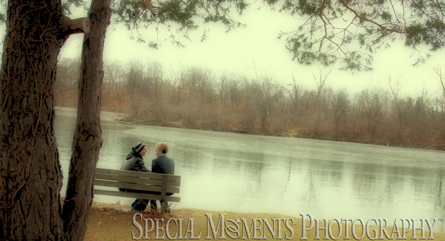 Wilcox Lake Plymouth MI wedding engagement  photograph