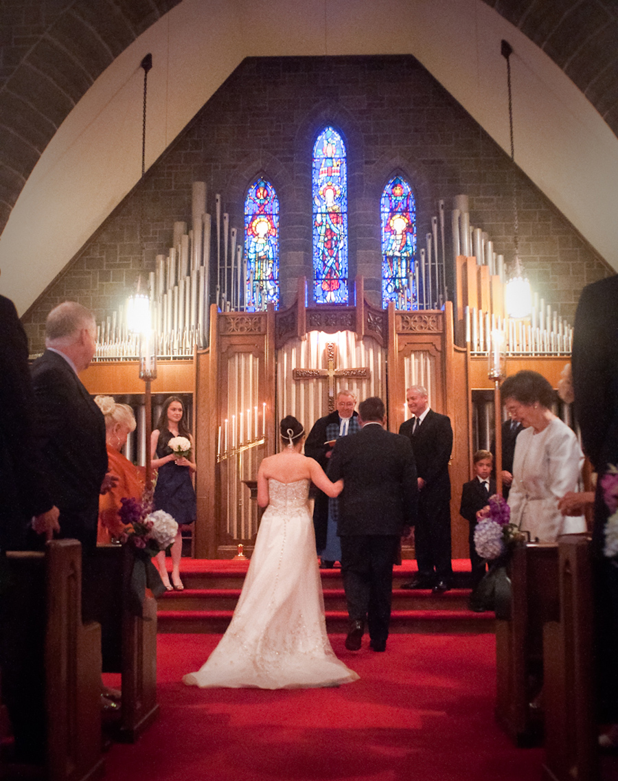 First Presbyterian Church Plymouth MI wedding photograph