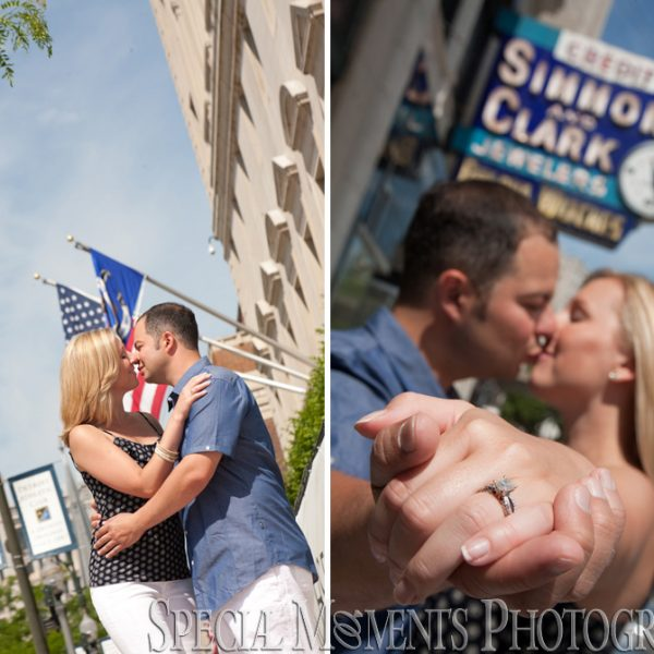 Elizabeth & Steve: DAC wedding engagement photos Detroit Athletic Club & Downtown Detroit
