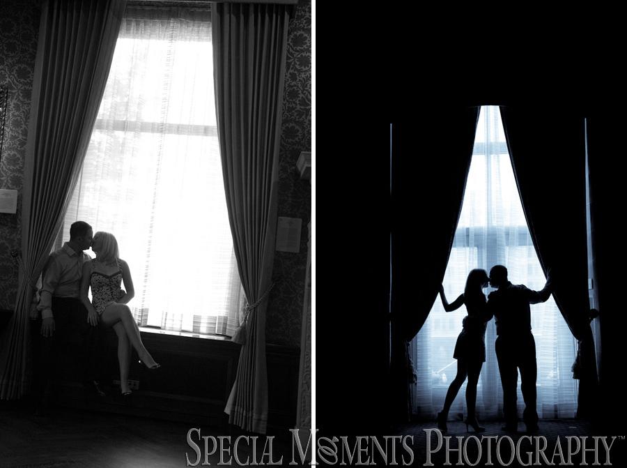 Detroit Athletic Club Detroit MI engagement wedding photograph
