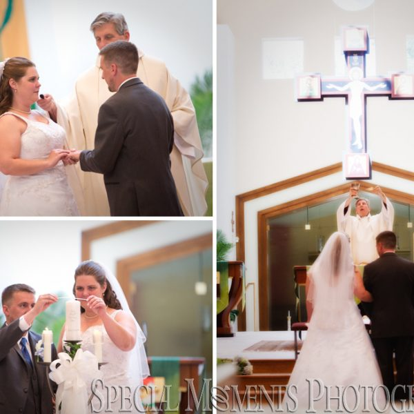 Kathryn & Joe: Saint Mary Magdalen Brighton MI Wedding & Flemings Steakhouse & Wine Bar Livonia