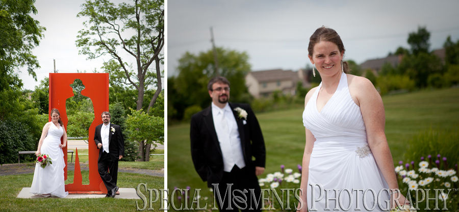 Mill Race Historic Park Northville MI wedding photograph