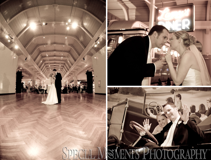Henry Ford Museum Dearborn MI wedding photograph