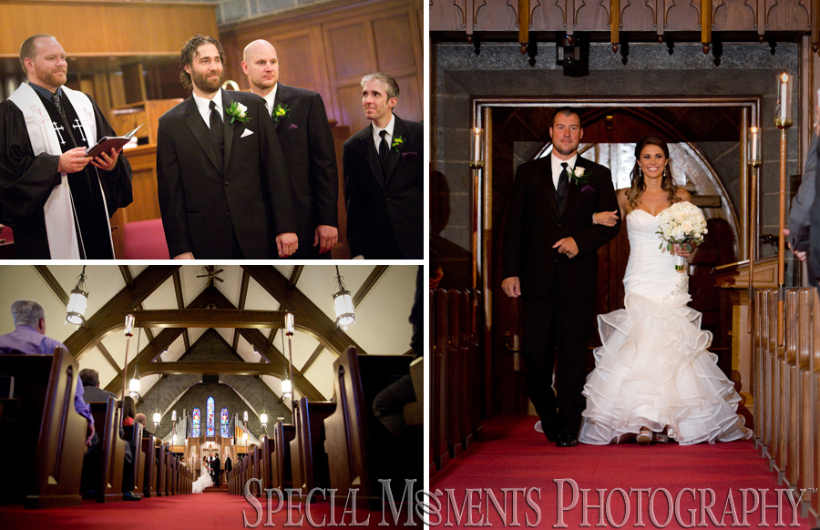 First Presbyterian Plymouth MI wedding photograph