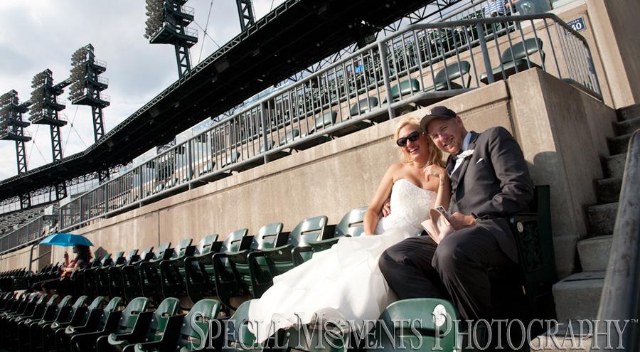 Comerica Park Tiger Stadium Detroit MI wedding photograph