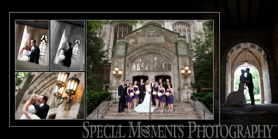 Law Quad Ann Arbor MI wedding photograph