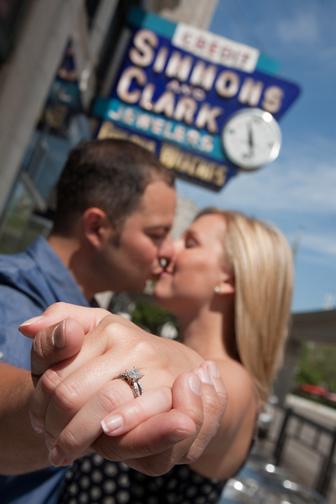 Elizabeth & Steve: dac wedding engagement photos Detroit Athletic Club & Downtown Detroit