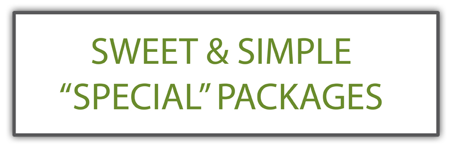 Special Sweet & Simple Packages
