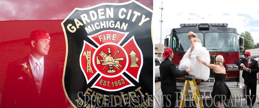 Garden City Fire Department wedding photograph