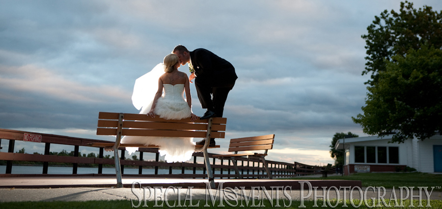 bishop park downtown wyandotte MI wedding photograph
