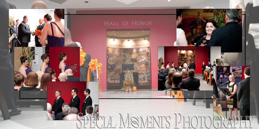 Automotive Hall of Fame Dearborn MI wedding photograph