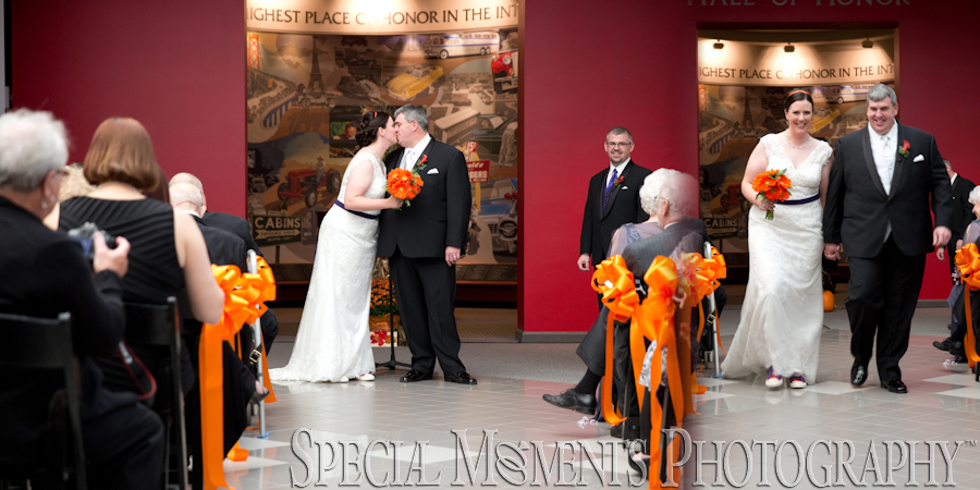 Automotive Hall of Fame Dearborn MI wedding photograph
