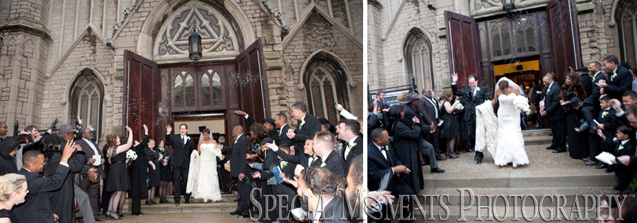 Fort Street Presbyterian Church Detroit MI wedding photograph