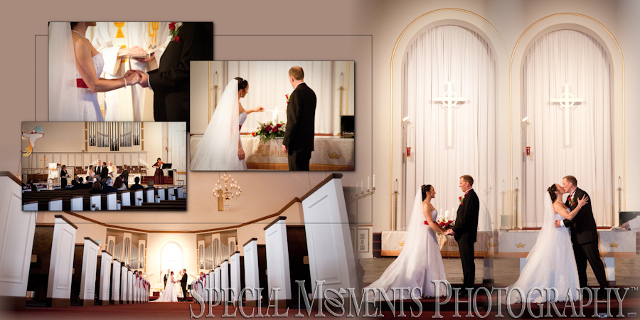 First United Methodist Plymouth MI wedding photograph
