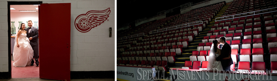 Joe Louis Arena Detroit MI wedding photograph