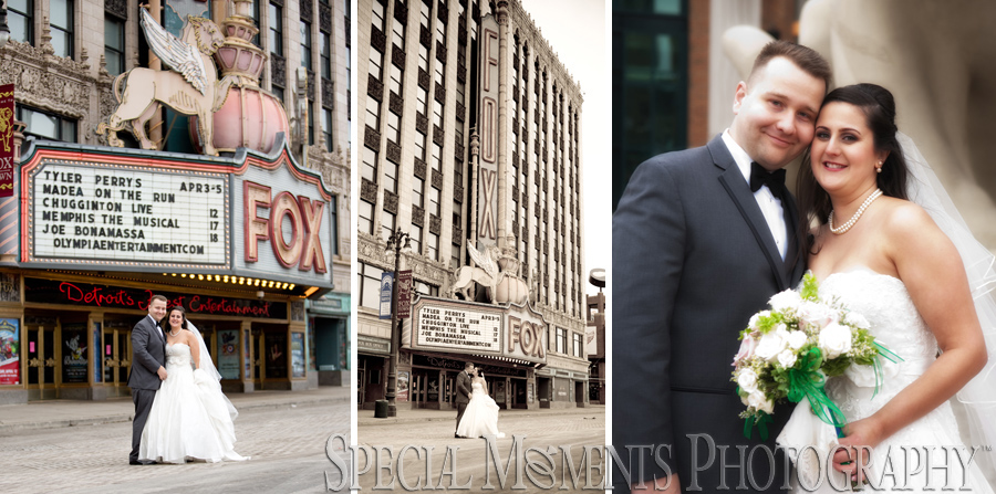 Fox Theater Detroit MI wedding photograph
