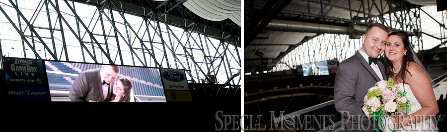 Ford Field Detroit MI wedding photograph