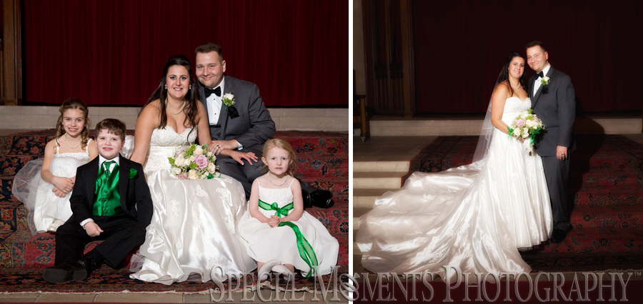Masonic Temple Detroit MI wedding photograph