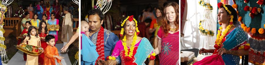 Hindu Home wedding reception MI photograph