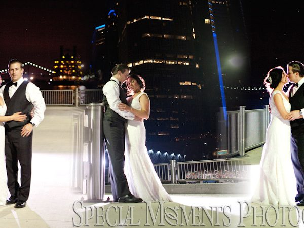 Anthony & Jillian's Wedding Album Design: Waterview Loft Port Detroit Wedding Reception