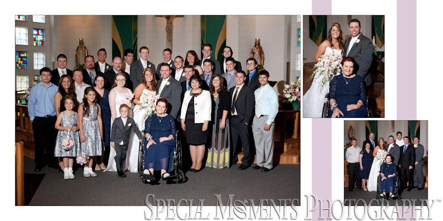 Holy Spirit Roman Catholic Brighton MI wedding photograph