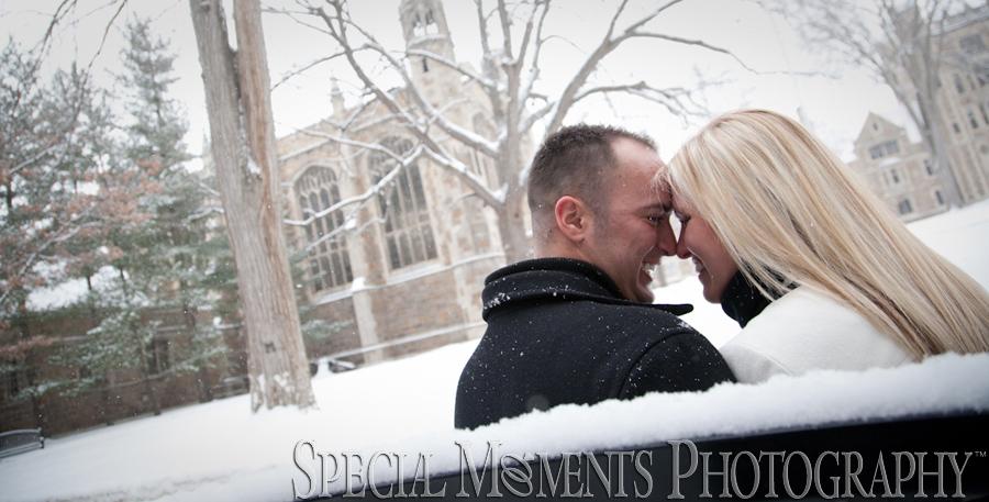 Law Quad Ann Arbor Engagement photograph