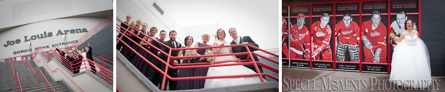 Joe Louis Arena Detroit MI wedding photograph