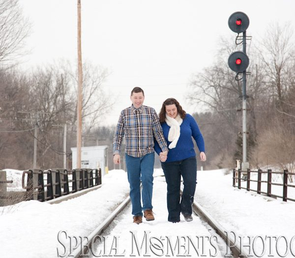 Michelle & Christopher's Engagement Photos in Downtown Plymouth MI