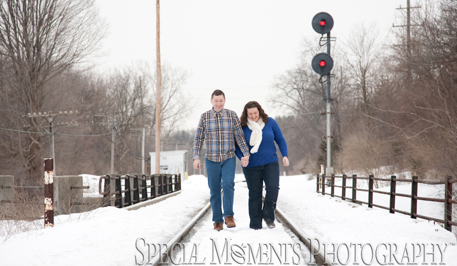 Downtown Plymouth MI Engagement photograph