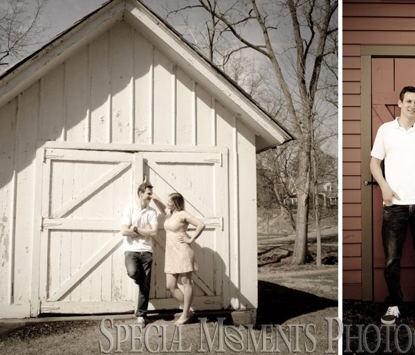 Kimberly & Joseph's Engagement Photos at Mill Race Park Northville MI