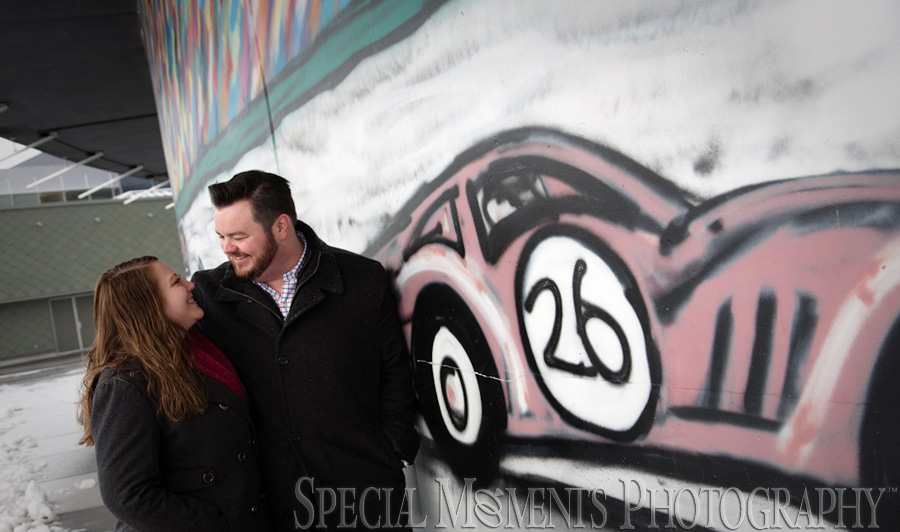 Downtown Detroit MI Engagement photograph