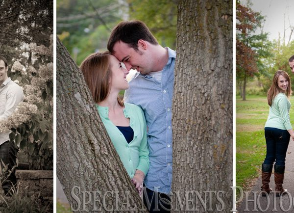 Paige & Andrew's Engagement Photos at Depot Park Clarkston MI