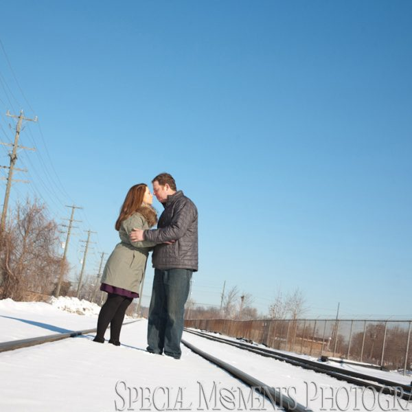 Katie & Brian's Engagement Photos in Downtown Plymouth MI