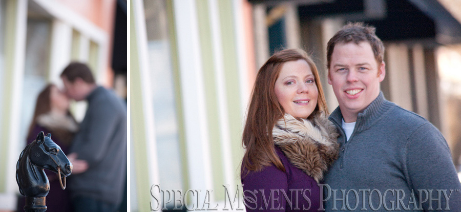 Downtown Plymouth engagement photography