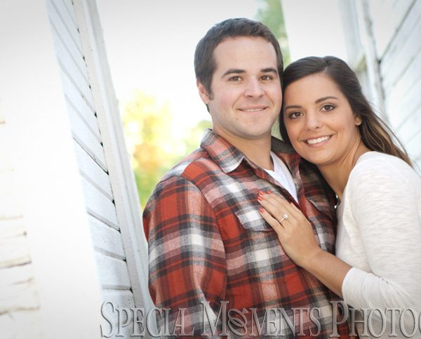 Christina & Michael's Engagement Photos On An Old Farm in Novi Michigan