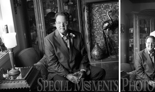 David & James Home wedding in Farmington Hills MI