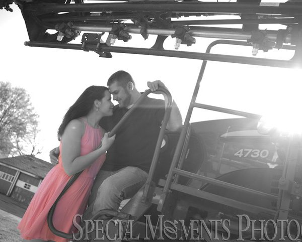 Kathrine & Nathan's Engagement Photos On Their Farm in Saline MI