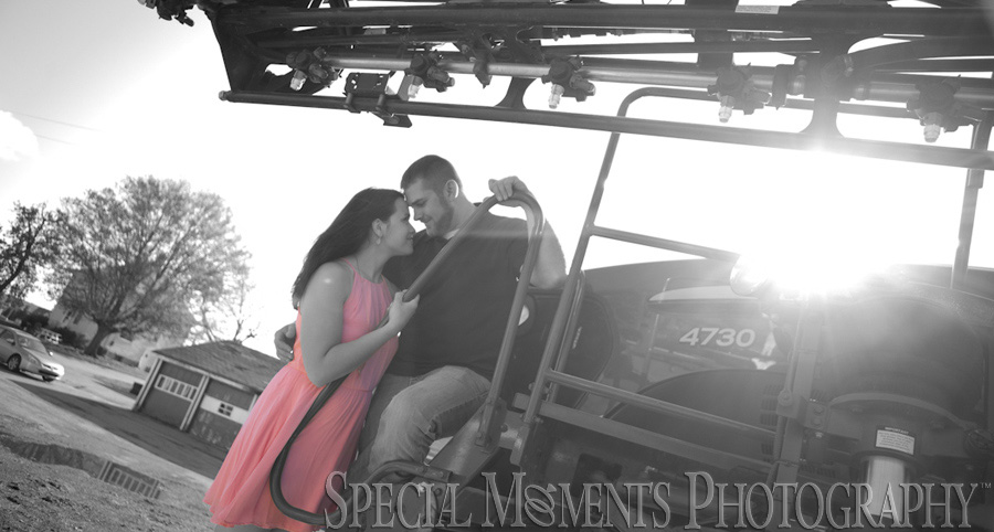 Saline MI Farm Wedding Engagement photograph