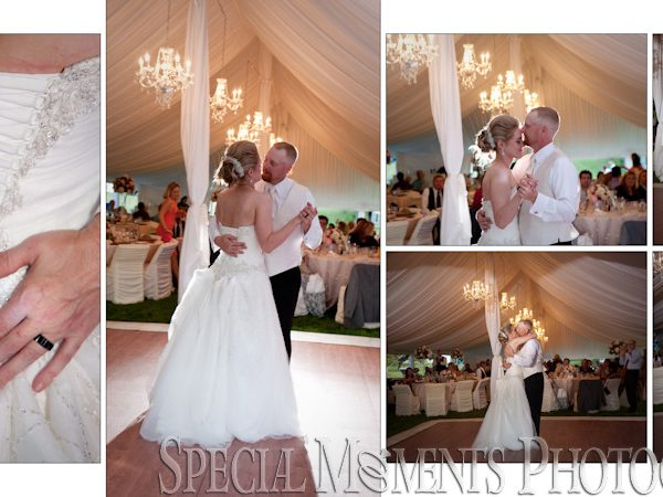 Joseph & Holly's Fine Art Classic Wedding Album Design from their Home Tent Wedding Michigan
