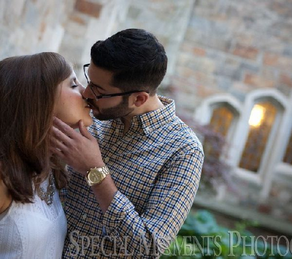 Chantal & Daniel's Engagement Photos at the Law Quad Ann Arbor MI