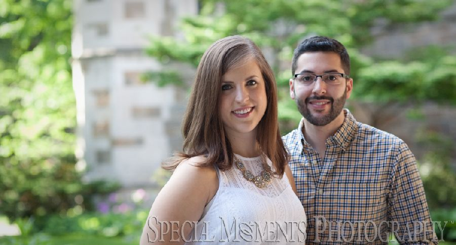 Law Quad Engagement Ann Arbor MI engagement photograph