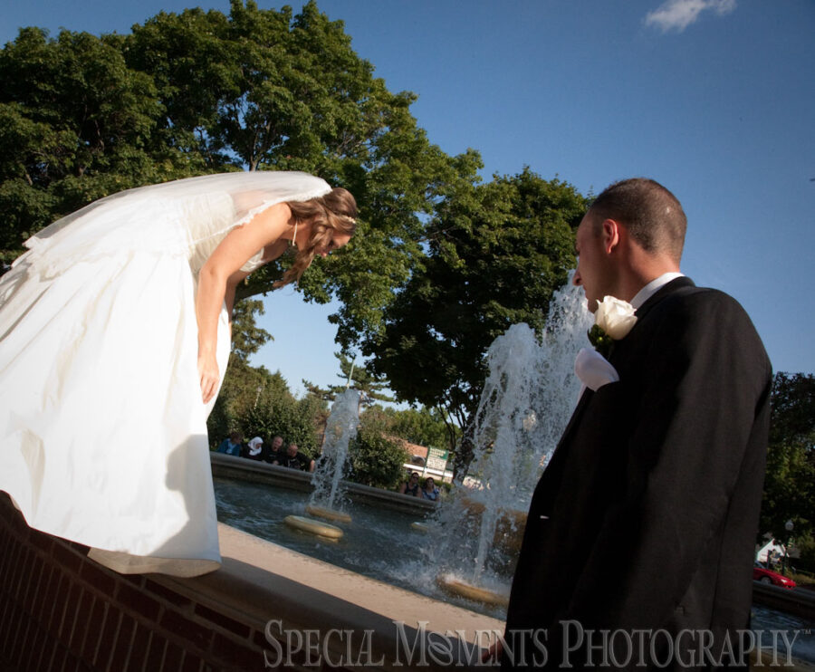 Downtown Plymouth MI wedding photograph