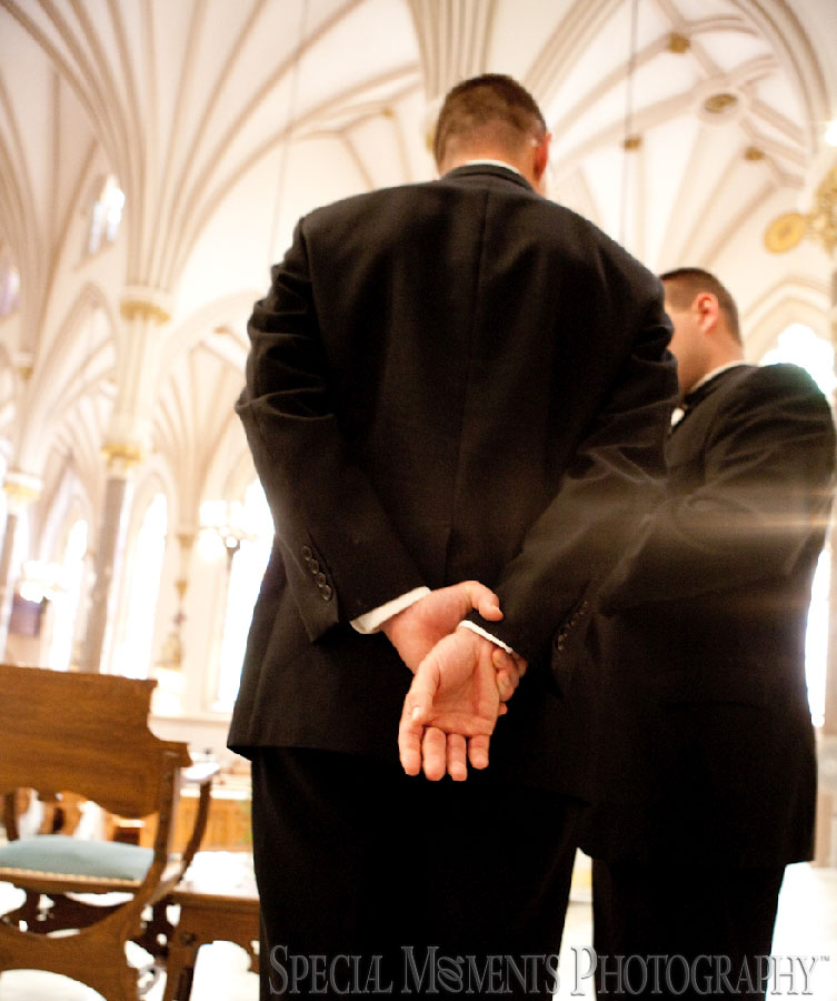 St. Patrick Historic Catholic Toledo OH wedding photograph