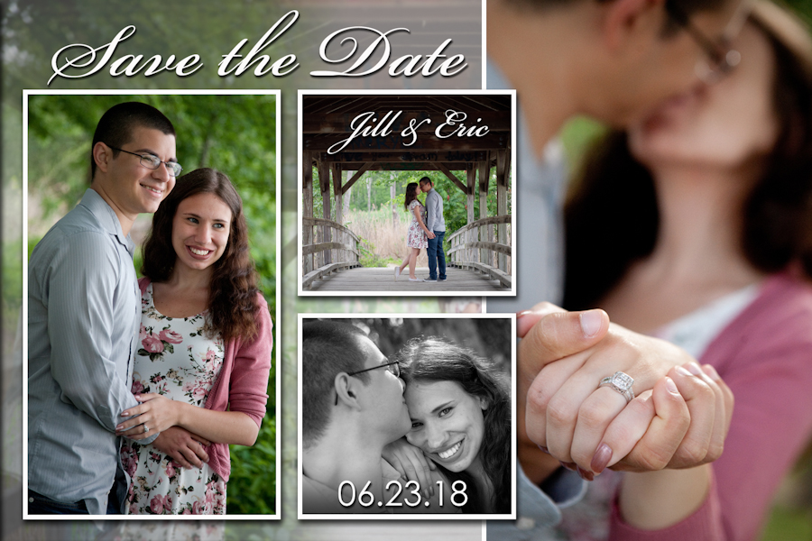 Save The Date wedding photograph