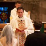 St. Clare of Montefalco Grosse Pointe Park MI wedding photograph