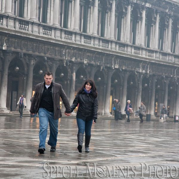 Venice Engagement Photos: Angela & Dave meet in Venice Italy for a great day around the city.