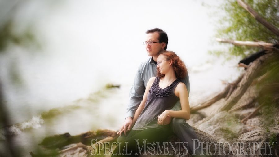 Newport MI beach engagement pictures